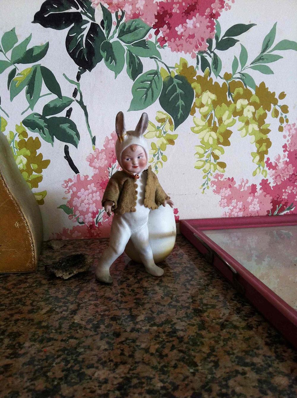 Pretty figurine in the day nursery