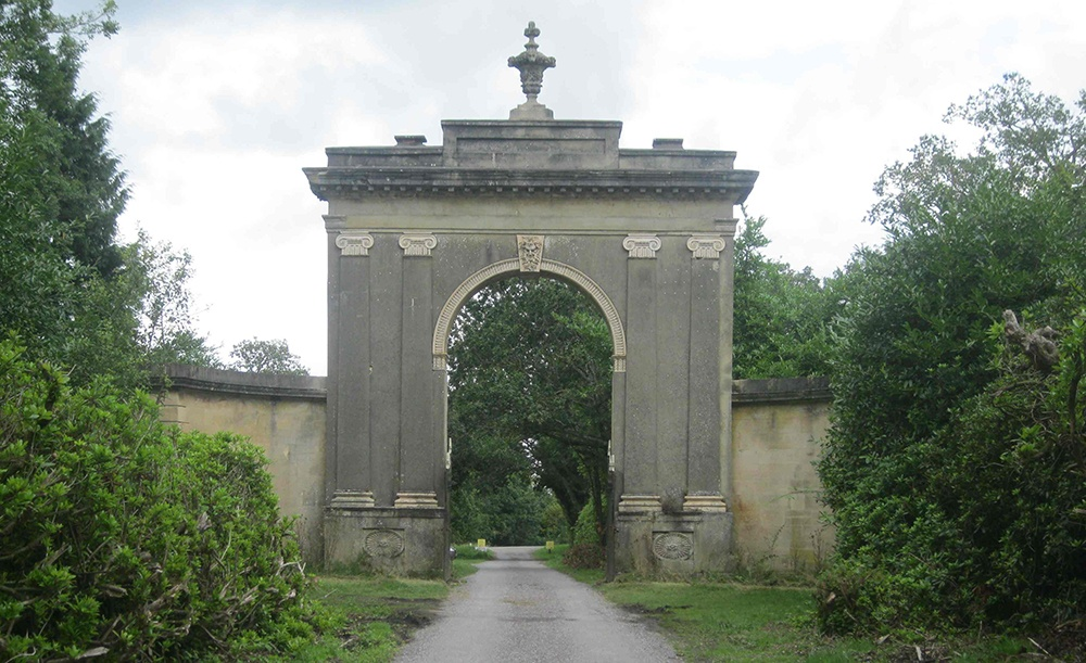 The gate to Highclere