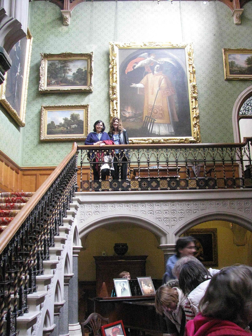 Melanie Dobson and Carrie in the gallery of the great hall