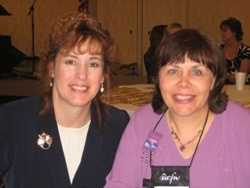 Carrie with Cindy Woodsmall, author of WHEN THE HEART CRIES and WHEN MORNING COMES.
