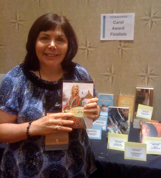 My Carol Award finalist novella in a Blue & Gray Christmas in the ACFW Conference Bookstore
