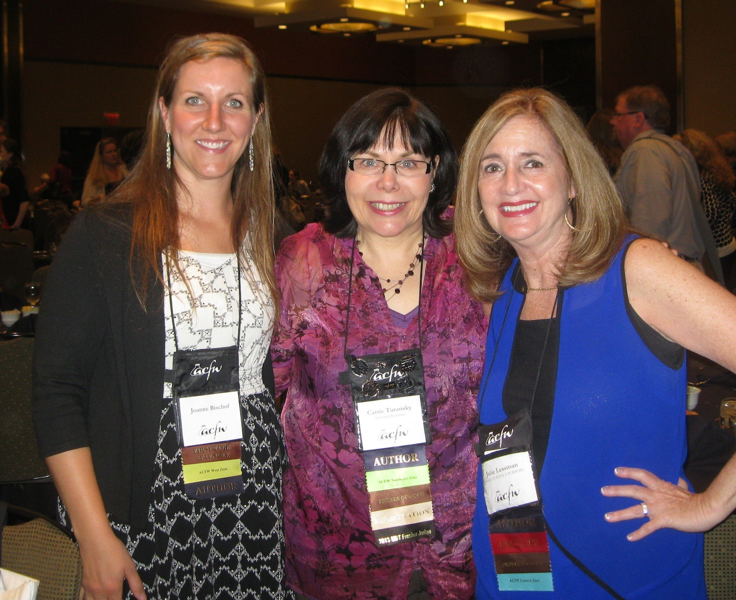 Joanne Bischof, Carrie, and Julie Lessman at ACFW 2013