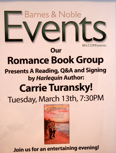 Speaking to the Romance Book Group at the Princeton Barnes and Noble