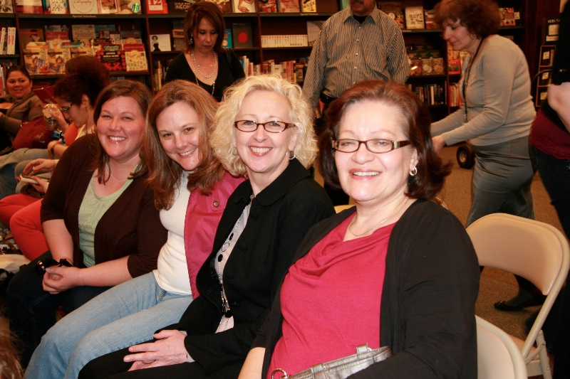 It was great to see so many book loving friends. Linda, Laurie, Grace, and Annette