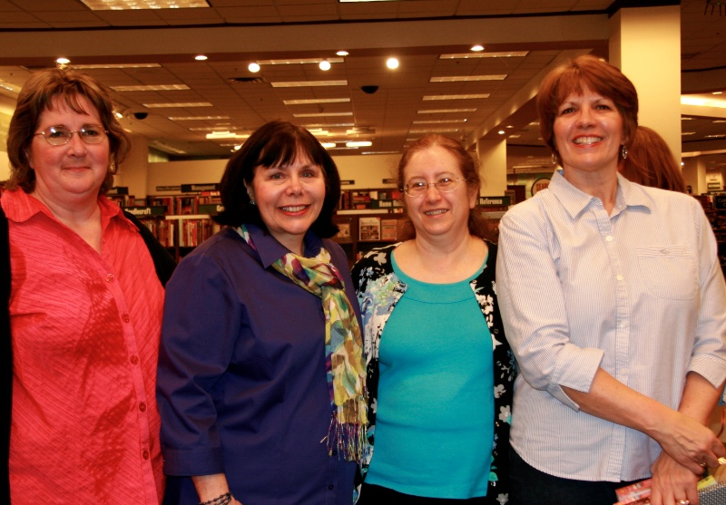 My local critique group, Katy, Carrie, Claudia and Ellie...treasures!