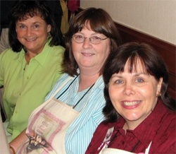 Linda Windsor, Vickie McDonough, and Carrie at the 2006 ACFW Conference book signing.