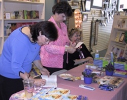 Carrie, Gayle Roper, and Mindy Starns Clark at our May 13th book signing at Lemstone Christian Bookstore in Warminster, PA.
